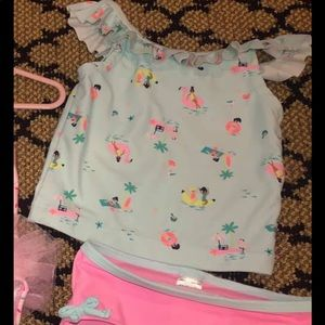 Flamingo Girls Carters Bathing Suit